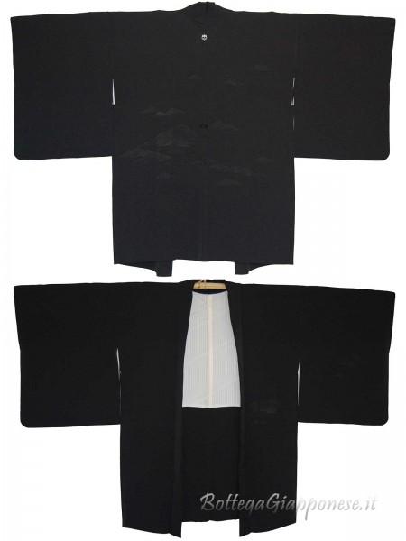 Haori giacca kimono in seta colline in mare