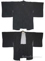 Haori giacca kimono in seta damascata rami fioriti