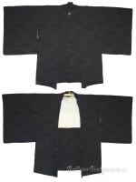 Haori giacca kimono in seta damascata acqua di fiume