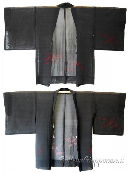 Haori giacca kimono in seta trama larga