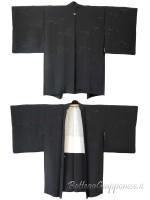 Haori giacca kimono in seta nero