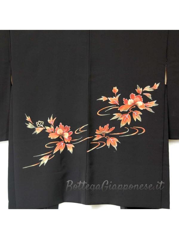 Haori giacca kimono in seta natura