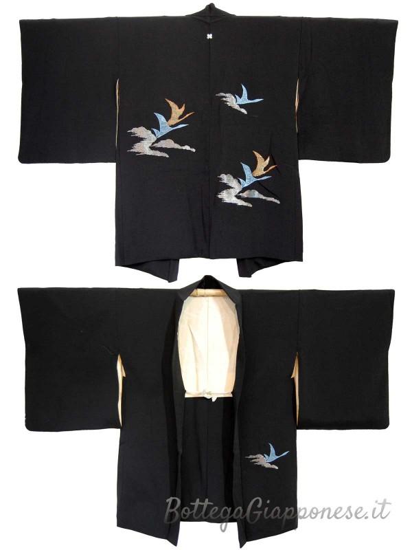 Haori giacca kimono in seta con ricami