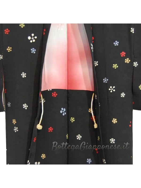 Haori giacca kimono in seta umè damascato