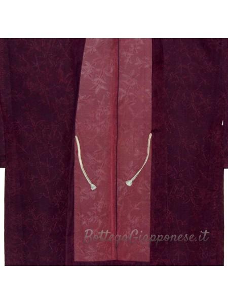 Haori giacca kimono in seta colorata trama larga