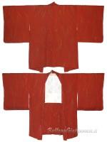 Haori giacca kimono in seta colore argilla