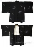 Haori giacca kimono in seta rametti di fiori