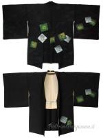 Haori giacca kimono seta geometrie fiori