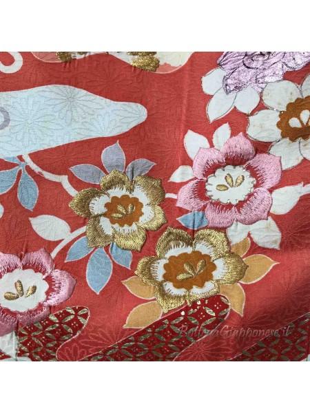Houmongi kimono seta Hanamari