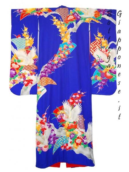Kakeshita azzurro kimono