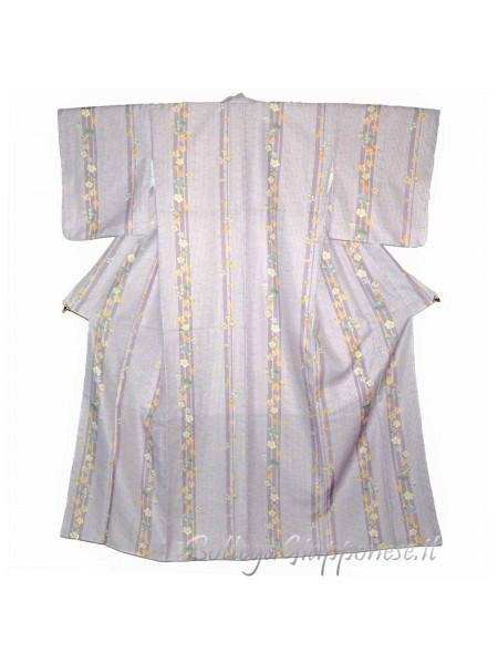 Kimono tessuto lilla sakura