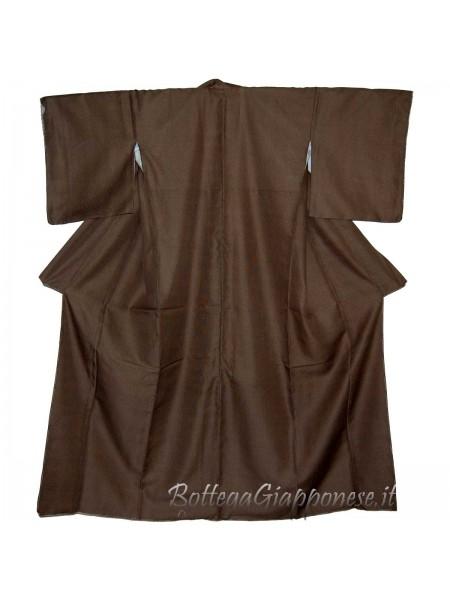 Kimono marrone quardrettini