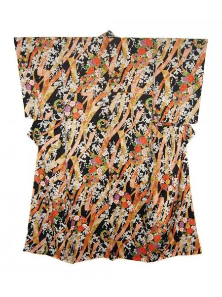 Komon kimono seta motivo giapponese shiki