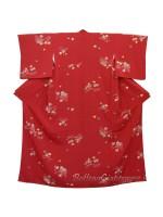 Komon kimono seta motivo giapponese momiji