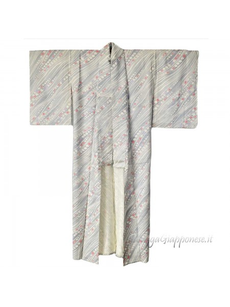 Komon kimono seta Sazanami