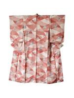 Komon kimono seta stile patchwork