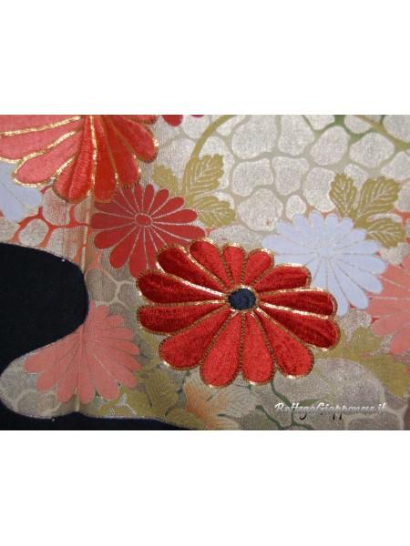 Kurotomesode kimono nero kiku