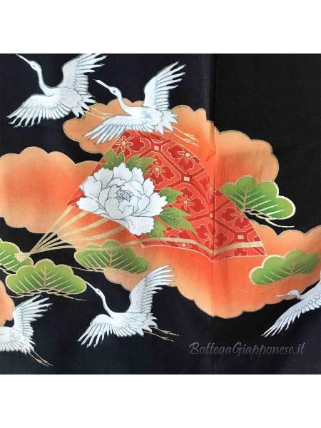 Kurotomesode kimono seta Hisyo