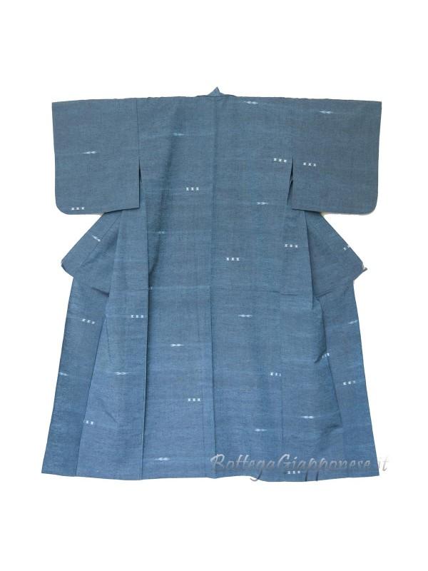 Kimono classico giapponese da uomo turchese