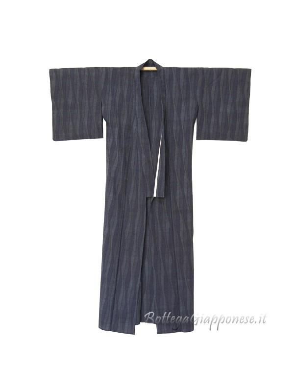 Kimono classico giapponese da uomo navy
