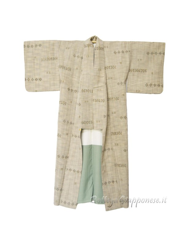 Kimono classico giapponese da uomo linee incrociate