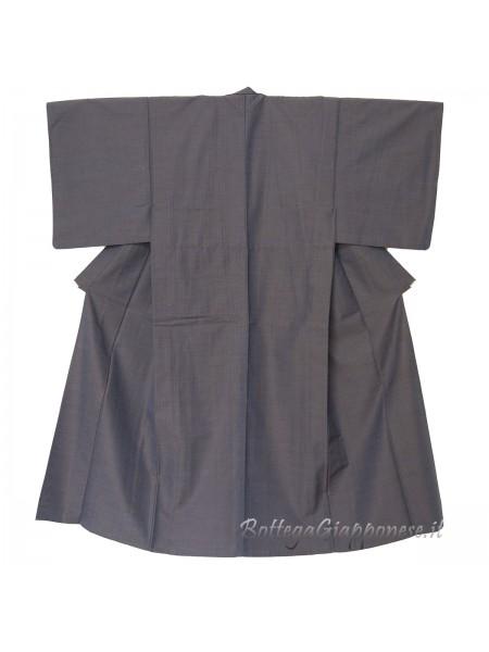 Kimono classico giapponese da uomo blu notte
