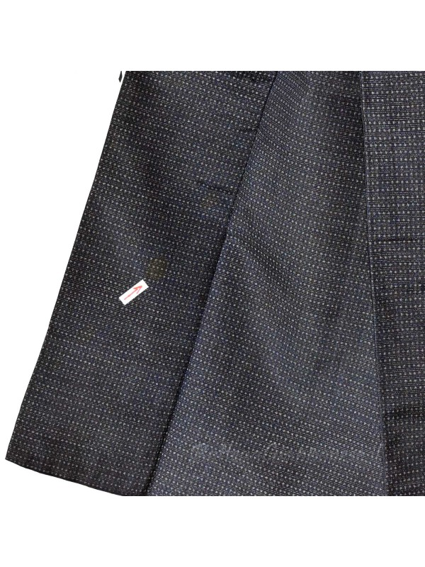 Kimono classico giapponese tessuto blu scuro