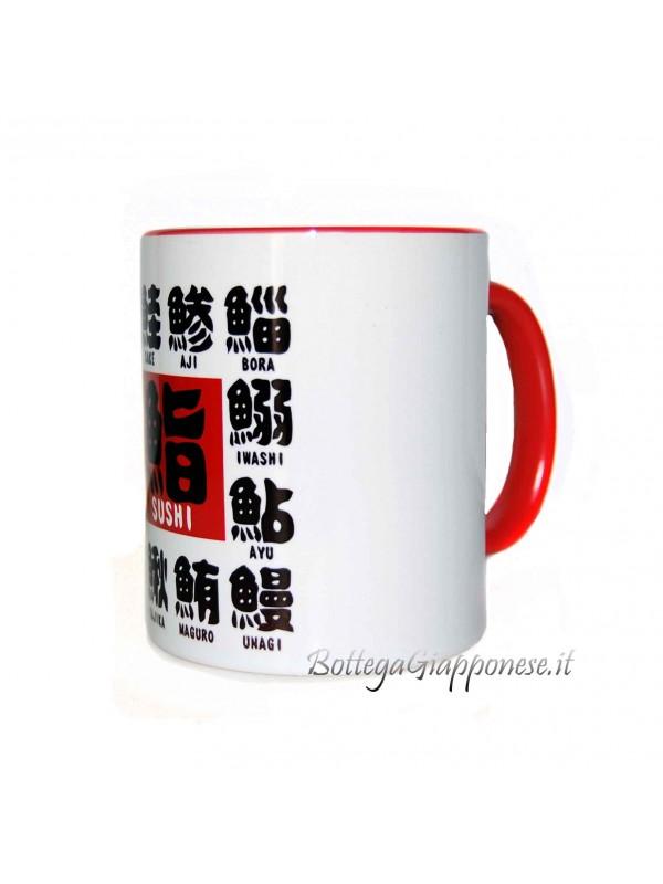 Tazza kanji nome tipo di sushi