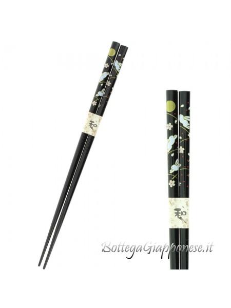 Hashi bacchette usagi sakura nere