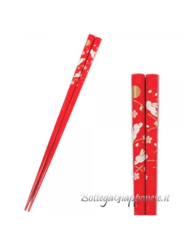 Hashi bacchette usagi sakura rosse