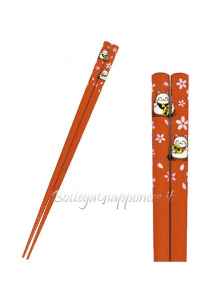 Hashi bacchette disegno neko (L)