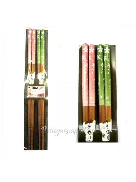 Hashi bacchette ramen set sakura rosa-verde