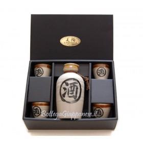 Bottiglia e bicchieri set regalo sakè