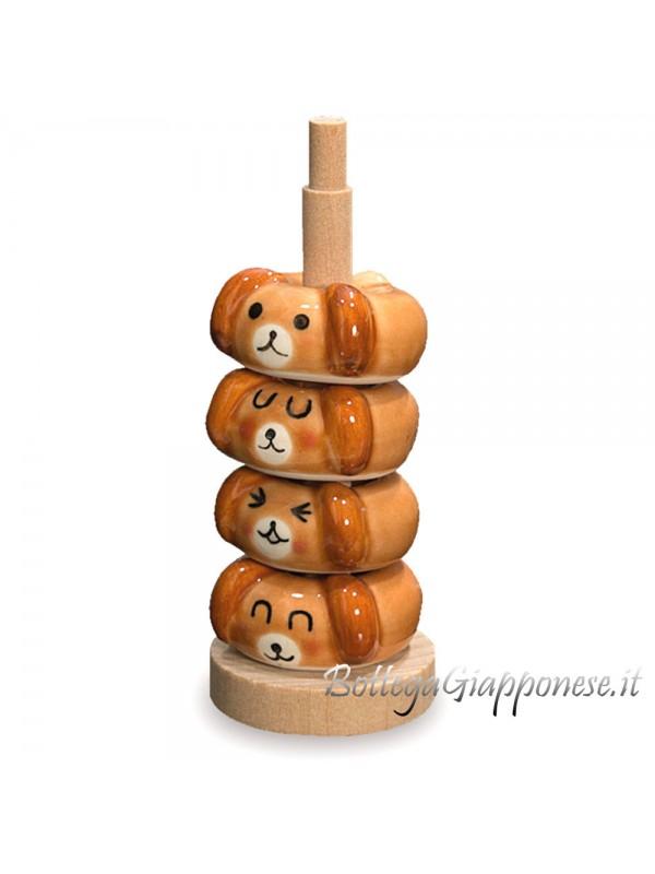Hashioki cagnolini 4 poggia bacchette