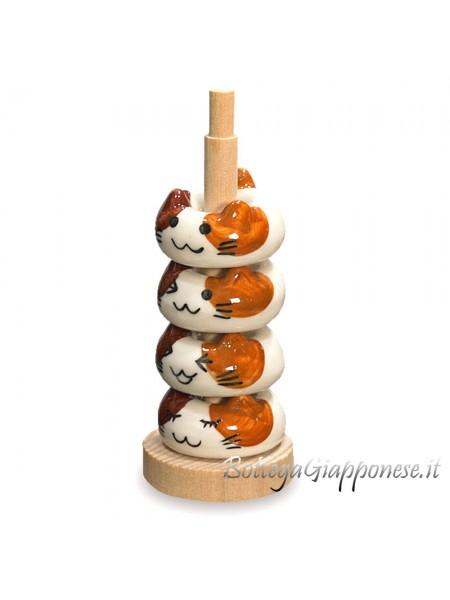Hashioki gattini 4 poggia bacchette
