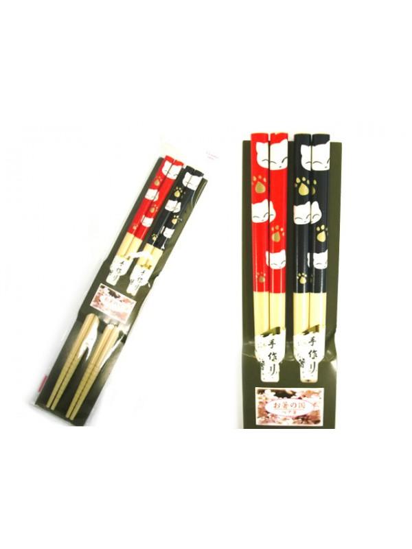 Hashi bacchette ramen coppia neko