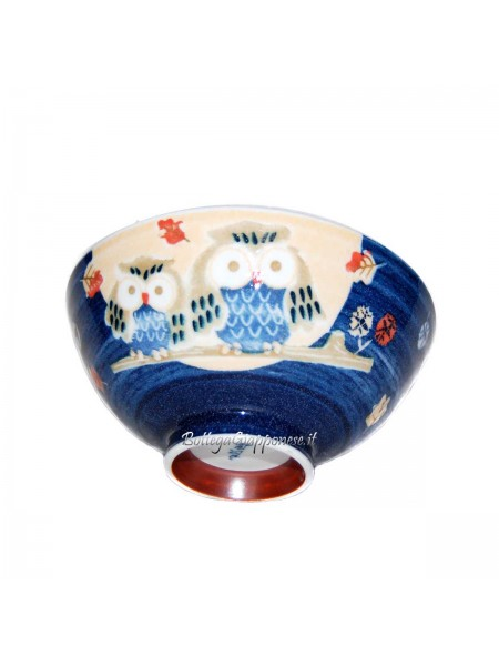 Ciotola decorata gufi (14x6,5cm)