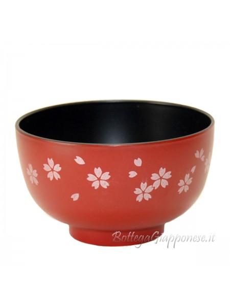 Ciotola gohan rossa con sakura (S)