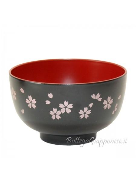 Ciotola gohan nera con sakura (S)