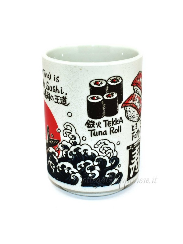 Tazza | Bicchiere per il tè disegni in rilievo sushi (1)