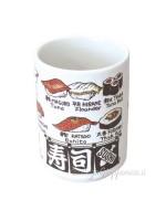 Tazza | Bicchiere per il tè disegni in rilievo sushi (4)