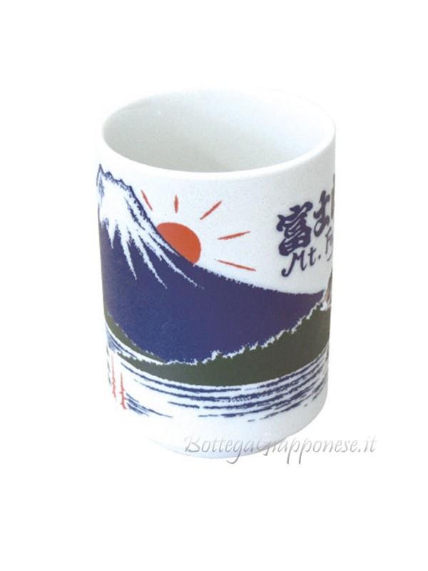 Tazza | Bicchiere per il tè disegno rilievo di Fuji (5)