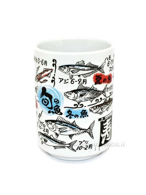 Tazza | Bicchiere per il tè disegni in rilievo sushi (8)