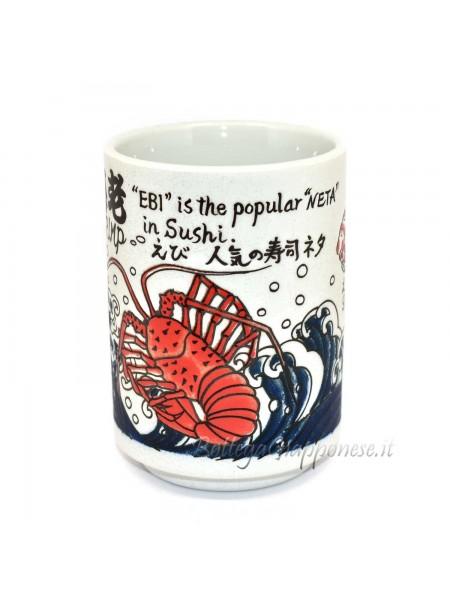 Tazza | Bicchiere disegni in rilievo sushi (10)