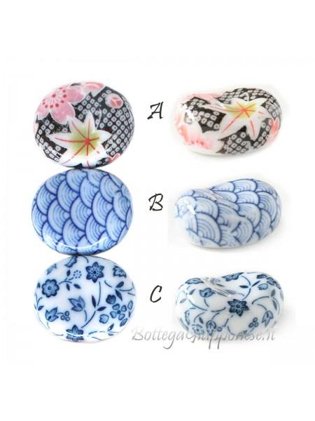 Hashioki poggia bacchette ovale akatsuki