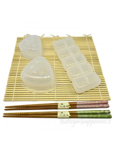 Kit attrezzi per preparare sushi nigiri onigiri