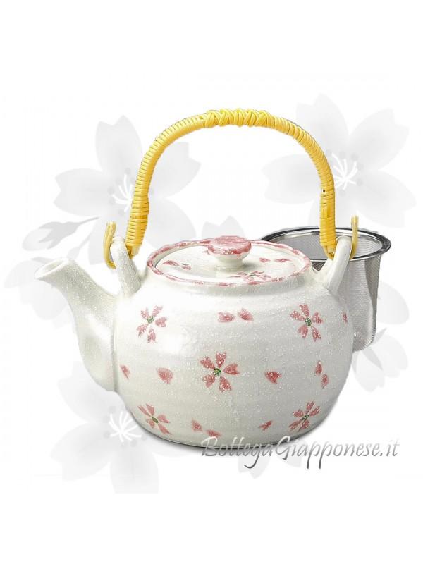 Kyusu teiera giapponese sakura rosa