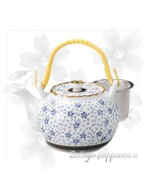 Kyusu teiera giapponese sakura blu