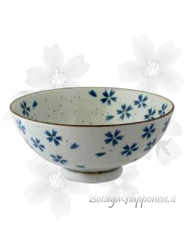 Ciotola ceramica decorata con petali sakura (13x7,5cm)