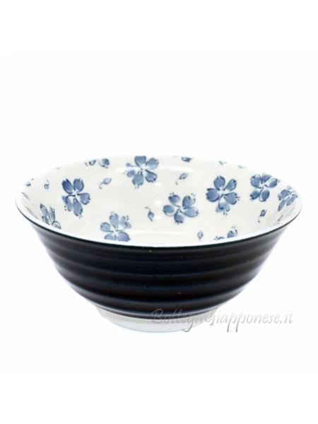 Ciotole ceramica giapponese indaco sakura (14,5x6cm)